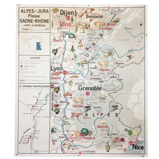 French Vintage Wine & Food Map