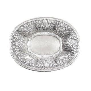 Flowery Silver Repoussé Bowl