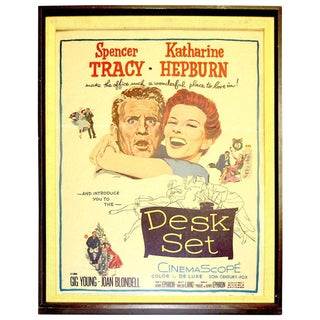 "Original Dated & Numbered Tracy And Hepburn 1957 Movie Poster ""Desk Set"""