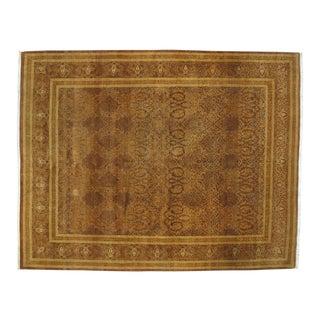 "Leon Banilivi Persian Tabriz Brown Wool Carpet - 8'2"" X 10'"
