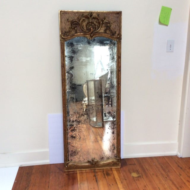 Antique French Giltwood Mirror - Image 3 of 8