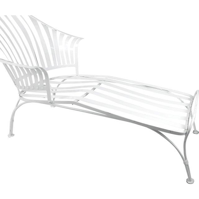 Francois Carre Vintage Fan Back Patio Chaise Lounge - Image 3 of 11