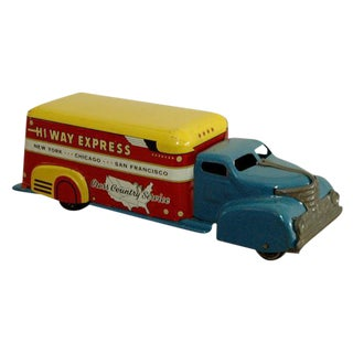 Marx Tin Litho Highway Express Toy Truck