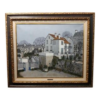 1968 Parisian Scene Oil Painting