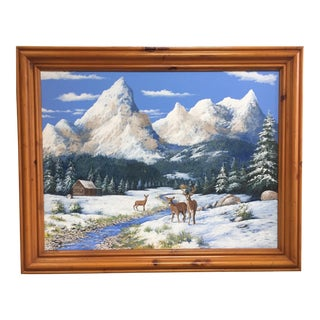 Winter Mountain Landscape Painting