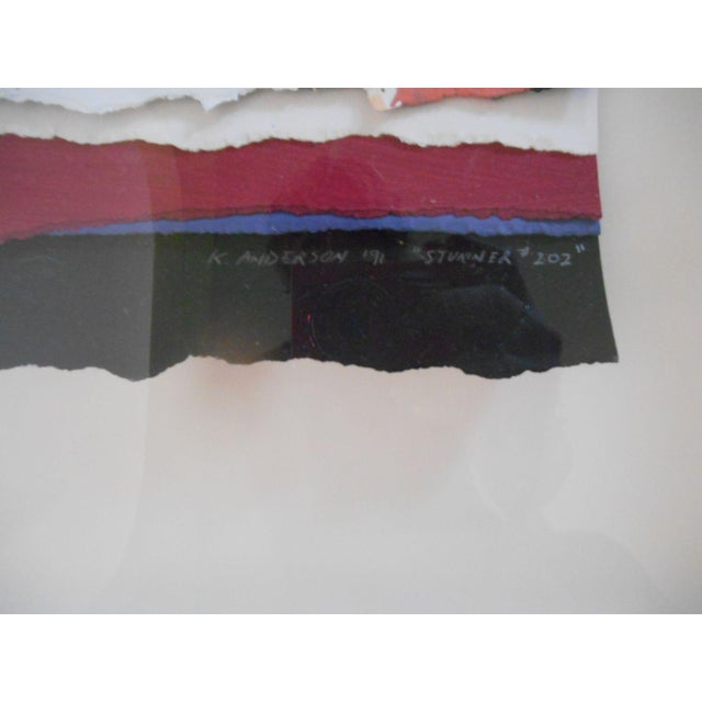 Abstract Mixed Media Textile Artwork - Image 5 of 6