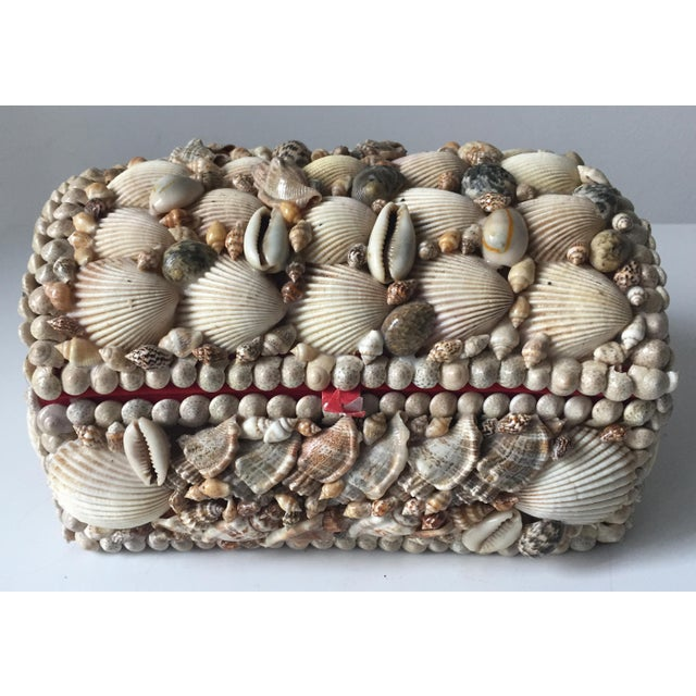 Vintage Large Shell Covered Jewelry Box - Image 7 of 7