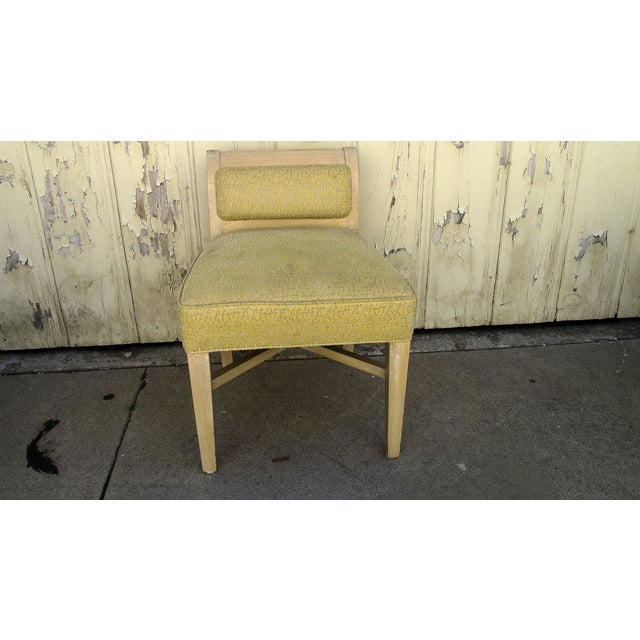 Vintage 1970s X-Form Yellow Vanity Chair - Image 2 of 6