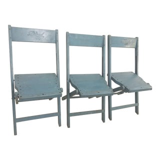Antique Folding Chairs - Set of 3