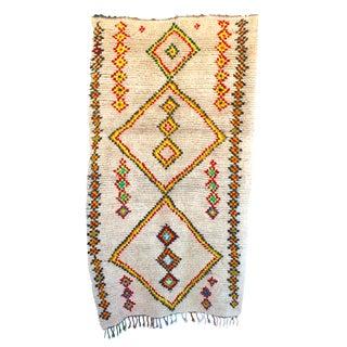 "Vintage Ourika Moroccan Berber Rug - 4'2"" X 7'2"""