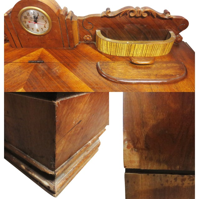 Art Deco Cedar Chest W/ Clock - Image 9 of 10