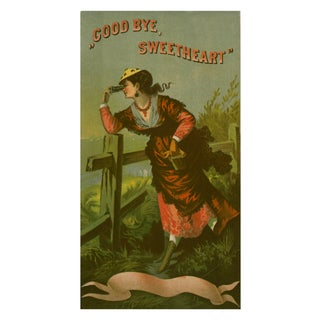 "Vintage ""Goodbye Sweetheart"" Advertisement Print"