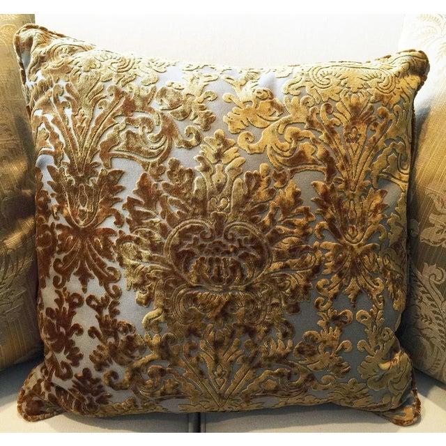 Barrow Velvet Damask Pillow - Image 5 of 7