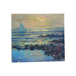 Sailboat on the Ocean Oil Painting