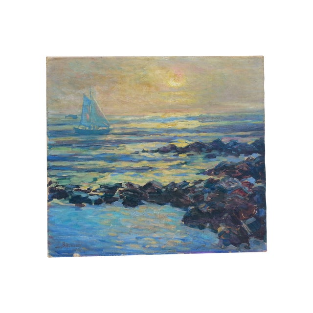 Sailboat on the Ocean Oil Painting - Image 1 of 3