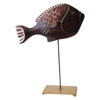 Sarreid Wood Fish Sculpture
