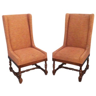 Hollywood Regency Occasional Salon Chair-Set of 2