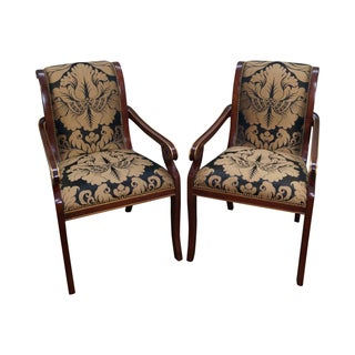 Regency Style Arm Chairs - Pair