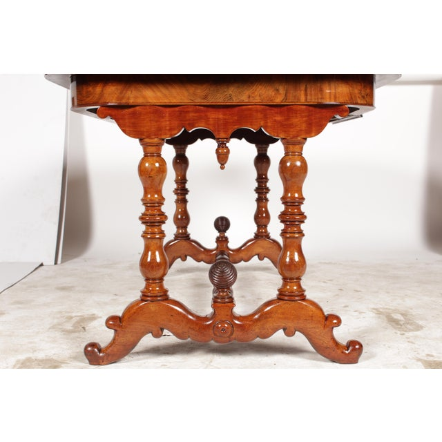 19th-C. Dutch William III Library Desk - Image 6 of 11