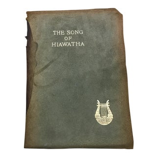 "Antique Suede Covered ""The Song of Hiawatha"" Book"