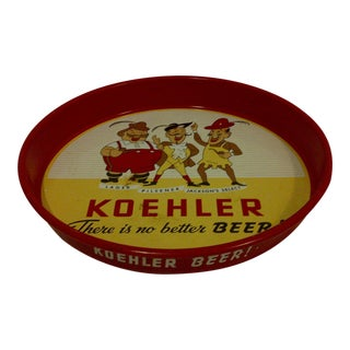 "Vintage ""Koehler Beer"" Serving Tray"