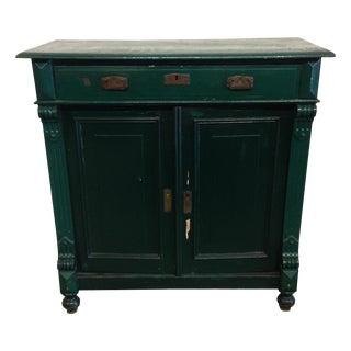 Antique German Green Painted Dresser