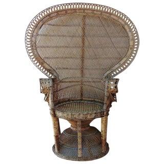 Mid-Century Rattan Peacock Chair