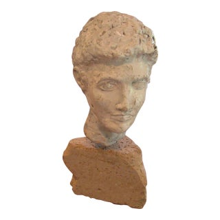 Sculpture Head Bust of a Greek Man or God