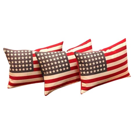 48 Star Parade Flag Pillows with Linen Backing - Image 1 of 5