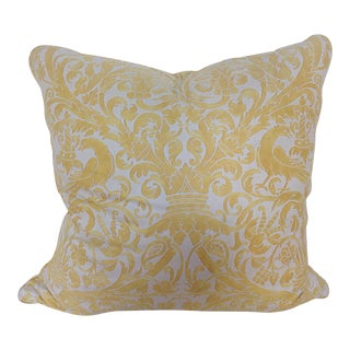 Yellow & White Fortuny Pillow