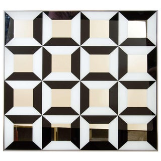 Black and White Op Art Wall Mirror