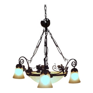1960's French Art Deco Chandelier