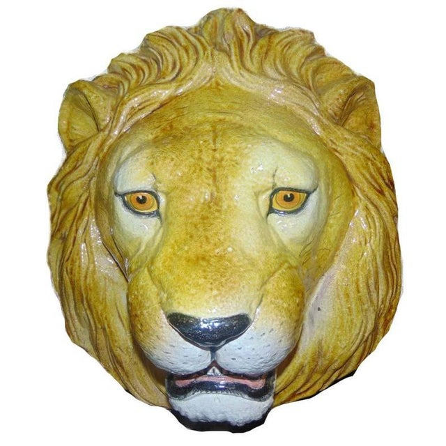 Italian Ceramic Safari Busts - Set of 3 - Image 6 of 9