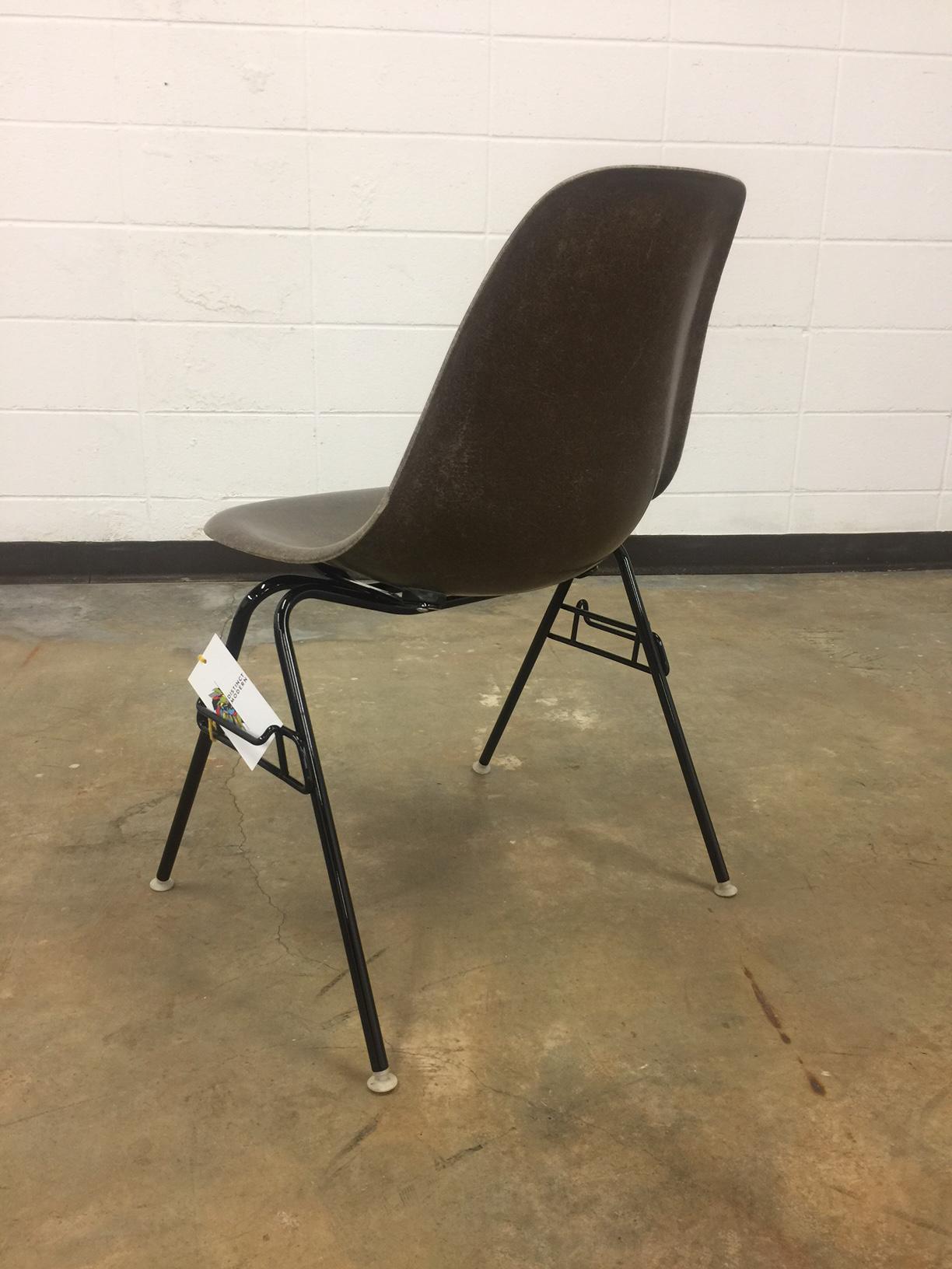 Eames For Herman Miller Seal Brown Fiberglass Shell Chair   Image 4 Of 8