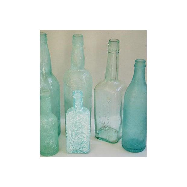 Antique Mediterranean-Blue Bottles - Set of 8 - Image 7 of 8