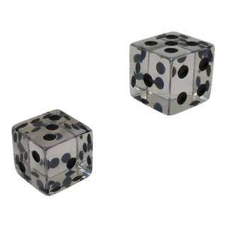 Large Acrylic Dice by Charles Hollis Jones - A Pair