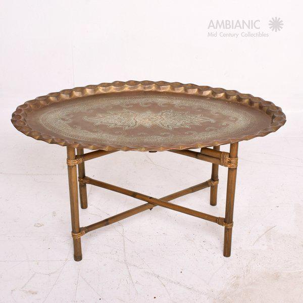 Superior Anglo Indian Coffee Table Brass Bamboo DECASO