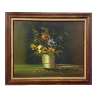Mid-Century Still Life Oil on Canvas