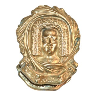 """The Fair Maid of Kent"" Brass Door Knocker"