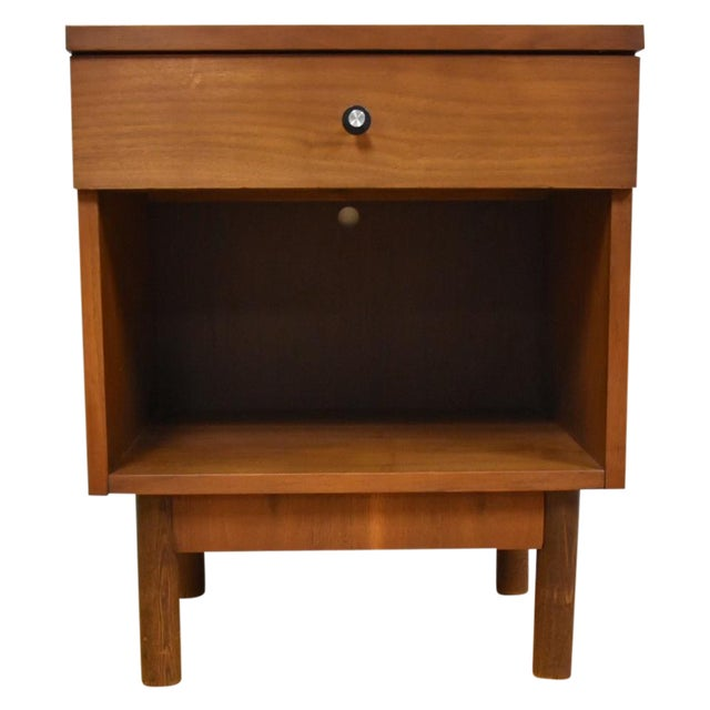 Image of Stanley Mid-Century Walnut Nightstand