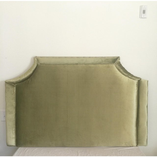 Queen Size Olive Green Headboard - Image 3 of 6