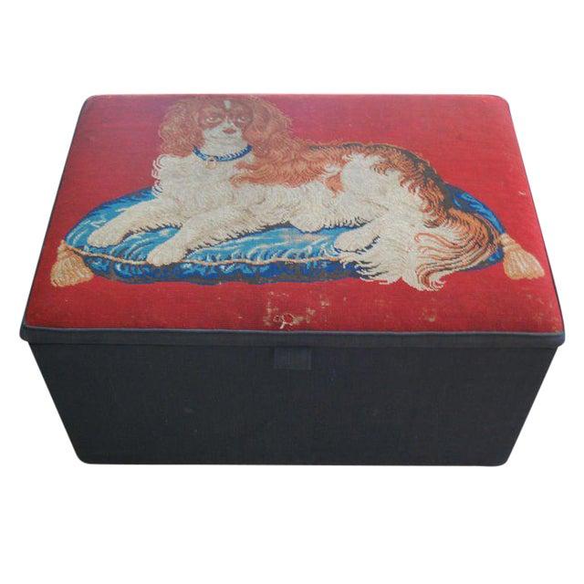 Needlepoint Ottoman Hinged Box - Image 1 of 5