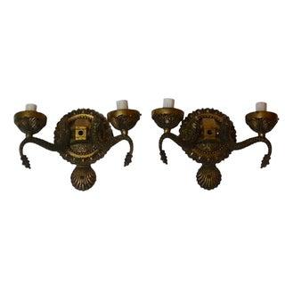 Vintage Brass Sconces - A Pair