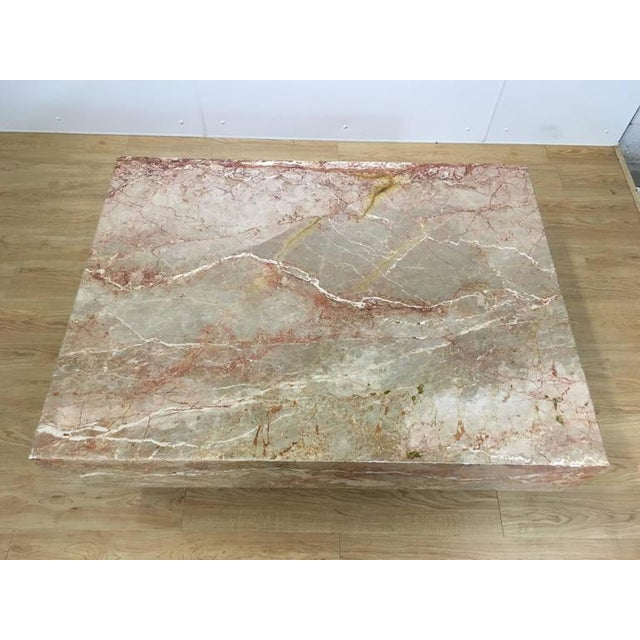 Substantial Rectangular Marble Cocktail Table - Image 3 of 7