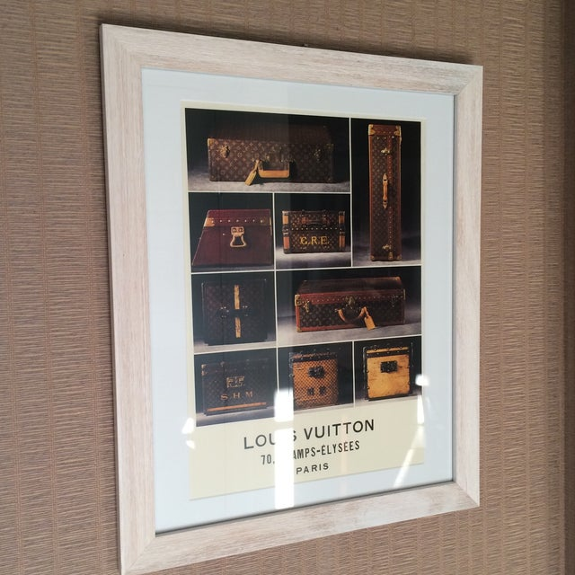 Louis Vuitton Framed Luggage Print from Paris - Image 6 of 7