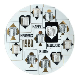 Piero Fornasetti Calendar Plate for 1980