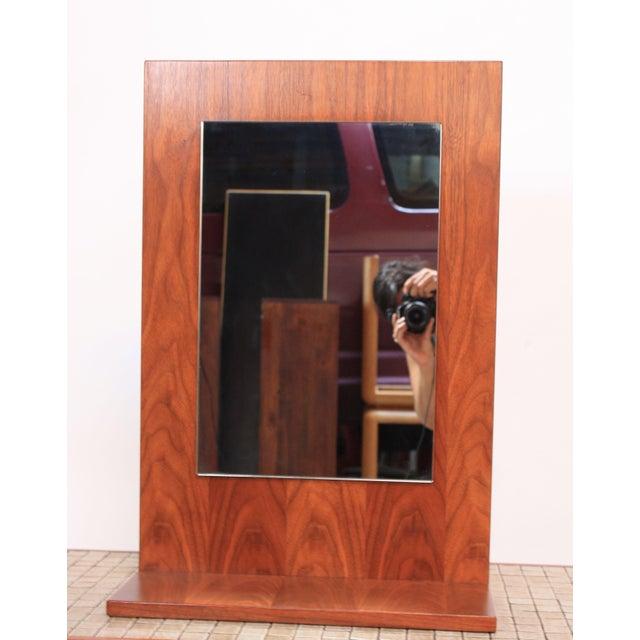 American Modern Walnut Mirror - Image 2 of 7