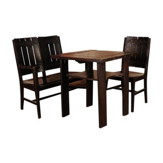 1910s Arts & Crafts Oak Breakfast Dining Set