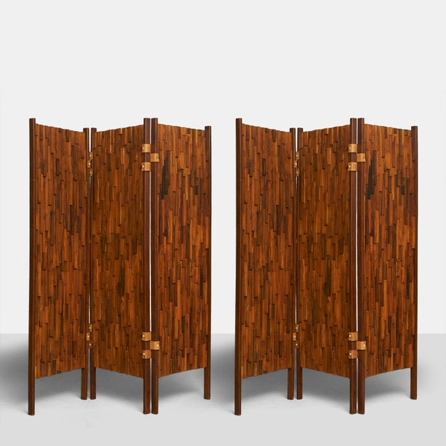 Brazilian rosewood screens in the manner of Percival Lafer - Image 2 of 6