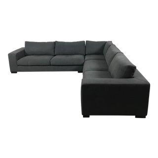 Modern Charcoal Sectional Sofa